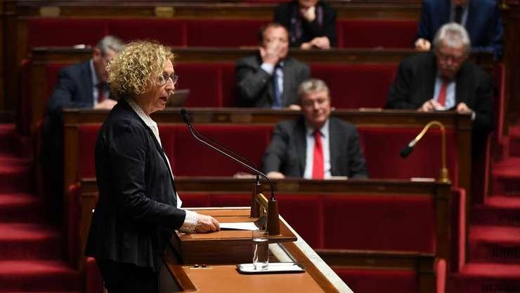 Ministrul Muncii, Muriel Pénicaud în fata deputatilor din Adunarea Nationala, 20 decembrie 2018.