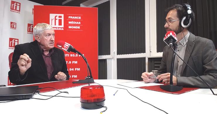 Mircea Diaconu, în studioul RFI