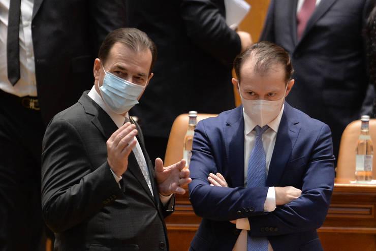 Ludovic Orban și Florin Cîțu, potențiali adversari la Congresul PNL (Sursa: MEDIAFAX FOTO/Alexandru Dobre)