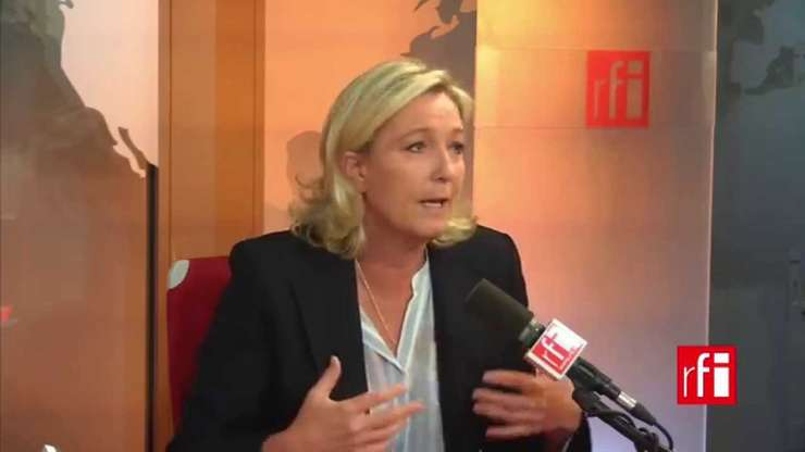Marine Le Pen, lidera Frontului national, partidul extremei drepte franceze