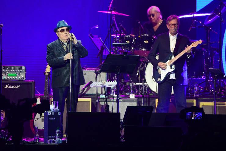 Van Morrison (stânga) și Eric Clapton