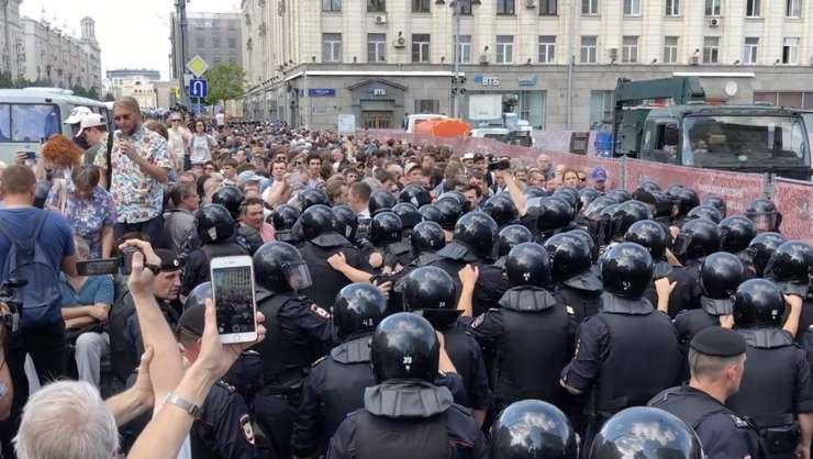 Mobilizare masivă a forţelor de ordine pentru a împiedica o manifestaţie pe 27 iulie 2019 la Moscova