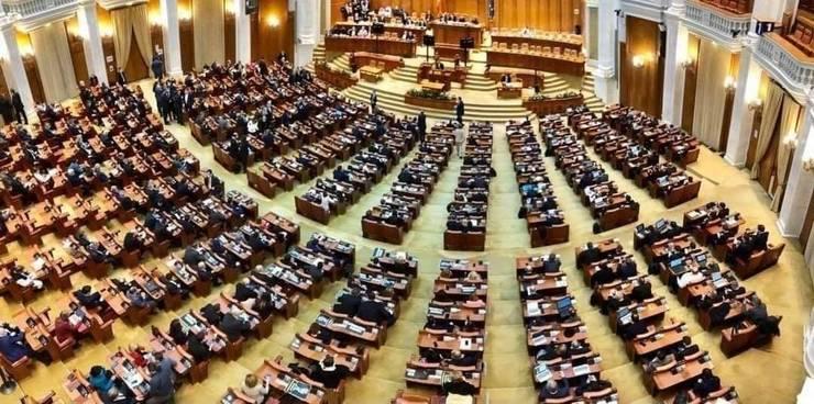 Prima moțiune de cenzură împotriva Guvernului Cîțu. (Sursa foto: Facebook/Camera Deputaților)