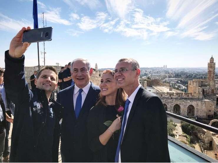 Turiști români la Ierusalim cu premierul Netanyahu