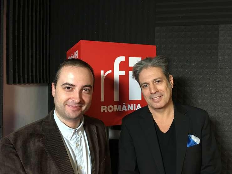 Filip-Lucian Iorga și Nicolas Don in studioul de inregistrari radio