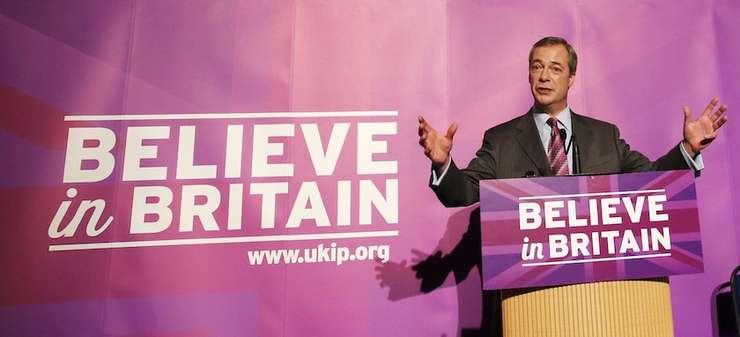 Liderul UKIP, Nigel Farage