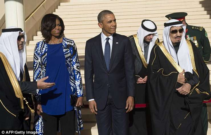 Barack Obama, vizita in Arabia Saudita
