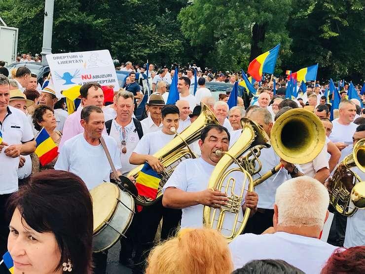 Imagine de la mitingul PSD de sâmbătă, 9 iunie 2018, din Piaţa Victoriei (Foto: RFI/Alex Olaru)