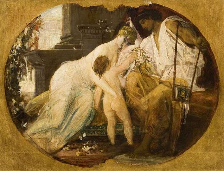 Orfeu și Euridice de G. Klimt