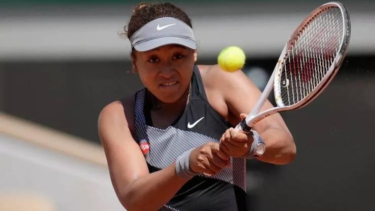 Jucàtoarea japonezà Naomi Osaka, nr. 2 mondial, la Roland-Garros, duminicà 30 mai 2021, în meciul cu românca Patricia Maria Tig.