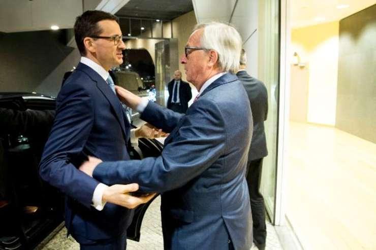 Morawiecki Juncker ian 2018