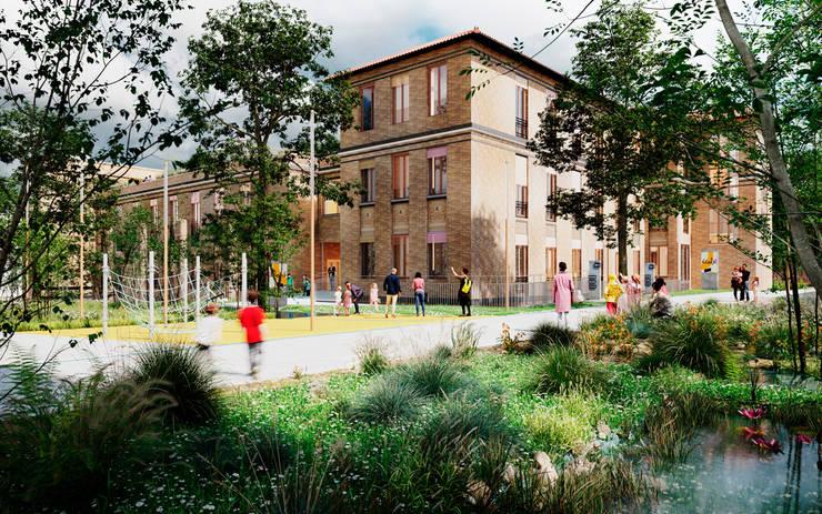 Primele apartamente scoase de vânzare de Primària Parisului se vor afla în aceste blocuri în constructie pe terenul unui fost mare spital parizian.