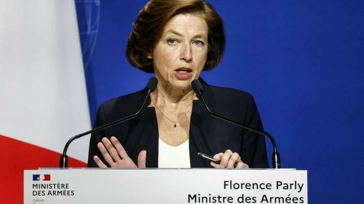 Ministra francezà a Armatelor, Florence Parly, la o conferintà de presà la Paris, 16 septembrie 2021.