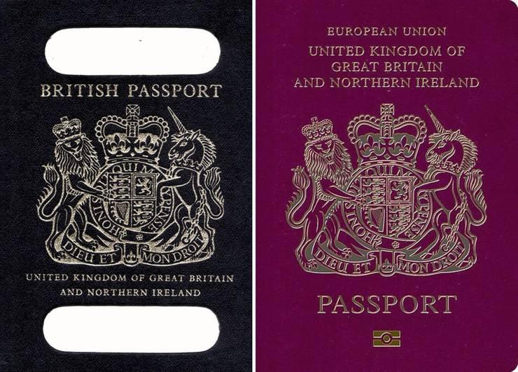 Pașaport britanic nou și vechi