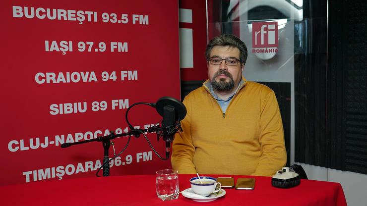 Politologul Andrei Țăranu in studioul RFI Romania