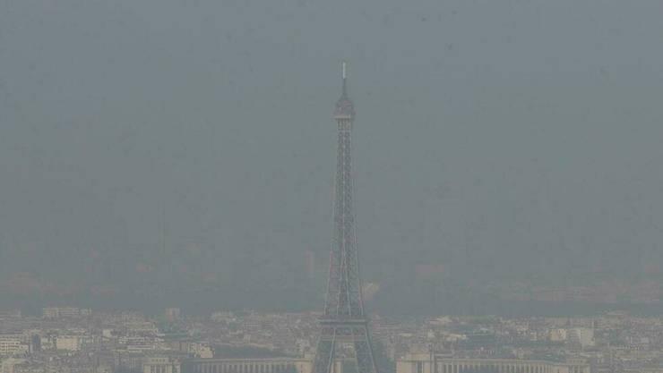 Poluare atmosfericà la Paris, 13 martie 2014.