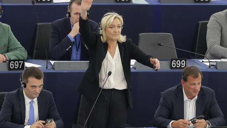 Presedinta Frontului National, Marine Le Pen în Parlamentul European