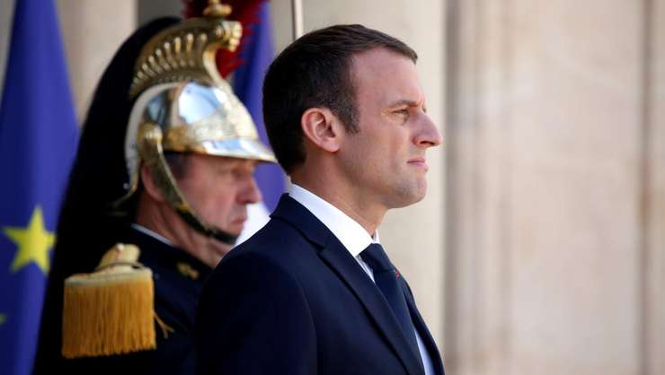 Presedintele Emmanuel Macron la Palatul Elysée, 28 august 2017