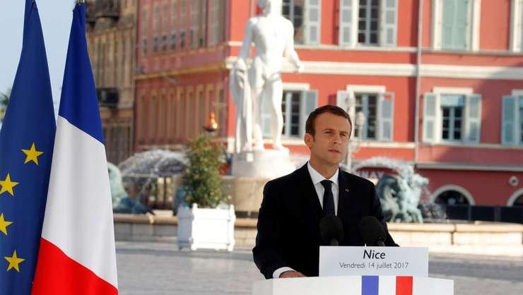 Presedintele Emmanuel Macron pronunta un discurs la Nisa, la un an de la atentatul de pe 14 iulie