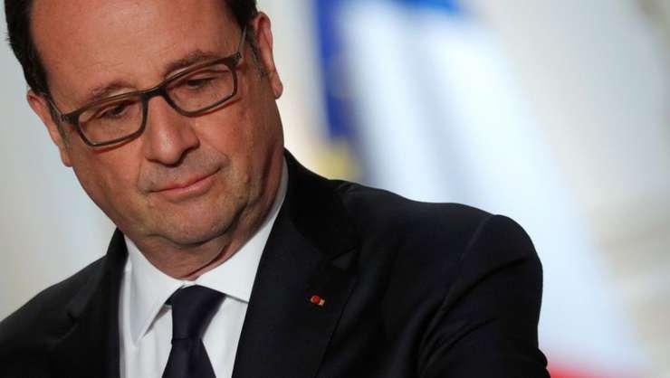 Presedintele Frantei, François Hollande pe 11 aprilie 2017 la Palatul Elysée, Paris