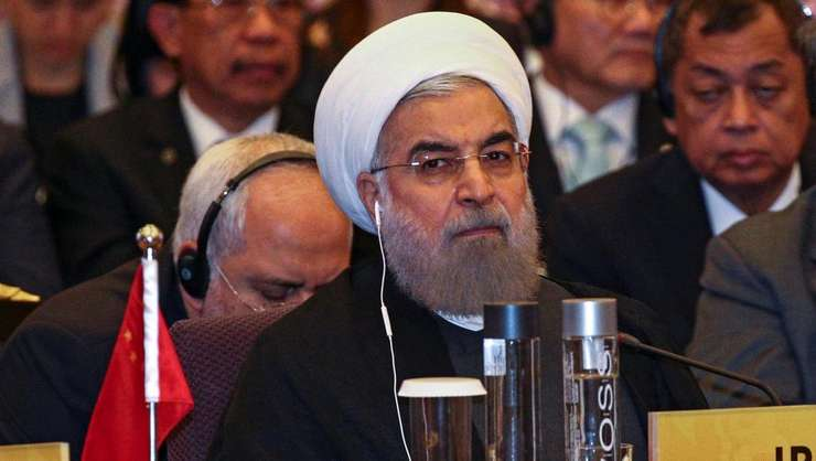 Presedintele iranian Hassan Rohani pe 10 octombrie 2016
