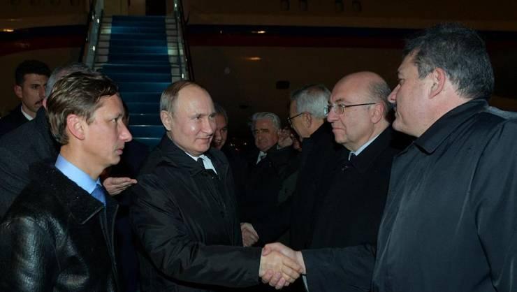 Presedintele rus Vladimir Putin ajunge la Istanbul, 7 ianuarie 2020.