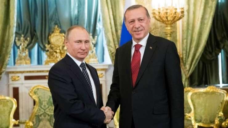 Presedintele Rusiei si Turciei, Vladimir Putin si Recep Tayyip Erdogan pe 10 martie 2017 la Moscova