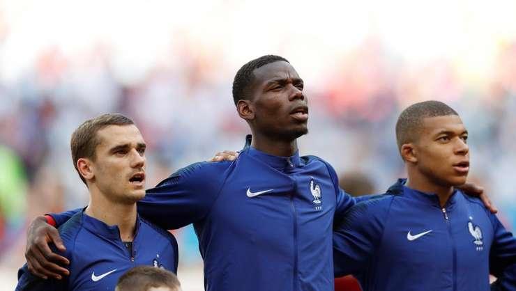 Griezmann, Pogba şi Mbappé vor înfrunta Belgia în semifinalele Campionatului Mondial din Rusia (Foto: Reuters/Dylan Martinez)