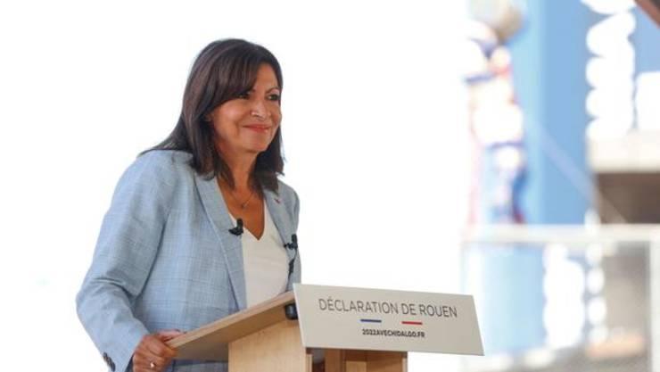 Primarul socialist al Parisului, Anne Hidalgo, a anuntat la Rouen ca va candida la Palatul Elysée, 12 septembrie 2021.