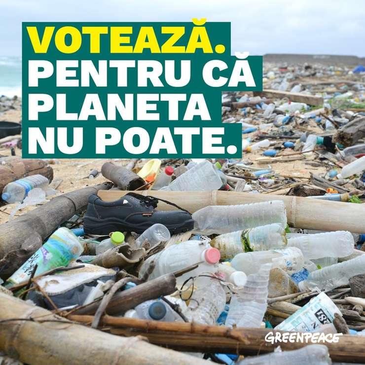 Organizația Greenpeace cere acțiuni mai eficiente în privința climei (Sursa foto: Facebook/Greenpeace România)