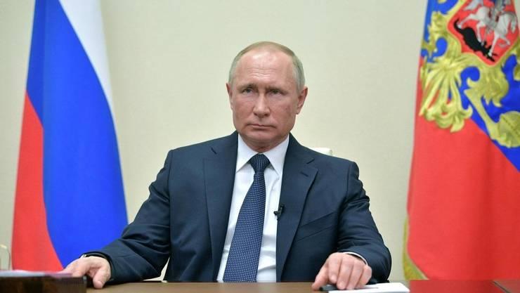 Vladimir Putin la Moscova în cursul unui discurs televizat, 2 aprilie 2020