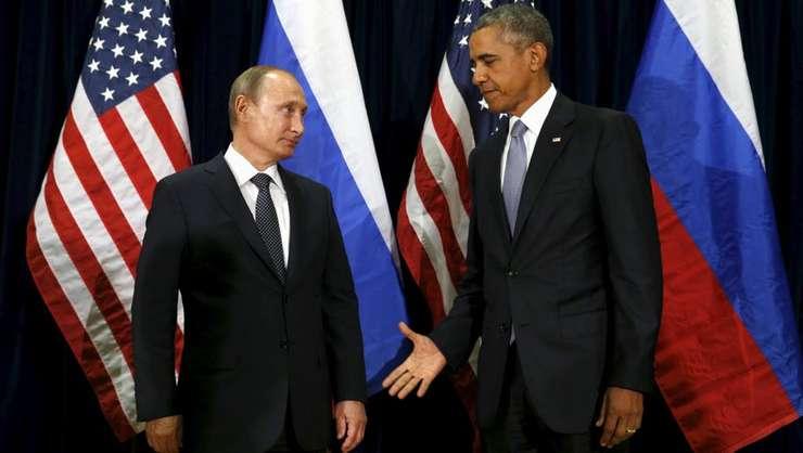 Președintele Rusiei, Vladimir Putin, și omologul său american Barack Obama