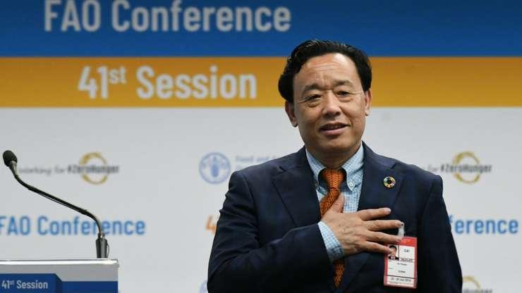Qu Dongyu a obtinut 108 voturi. Este primul chinez ce devine director general al agentiei ONU pentru Alimentatie si Agricultura.