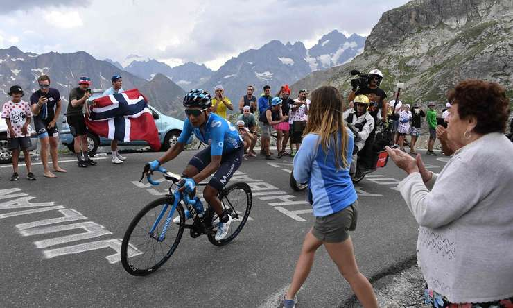 Nairo Quintana pe Galibier