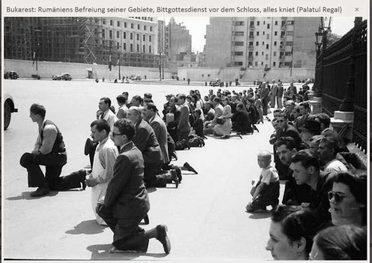 Bucureșteni îngenunchiați la 21 iunie 1941
