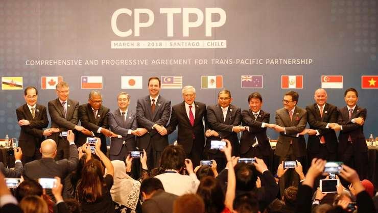 Reprezentantii a 11 natiuni au semnat ultima versiune a acordului de liber-schimb transpacific la Santiago de Chile, 8 martie 2018
