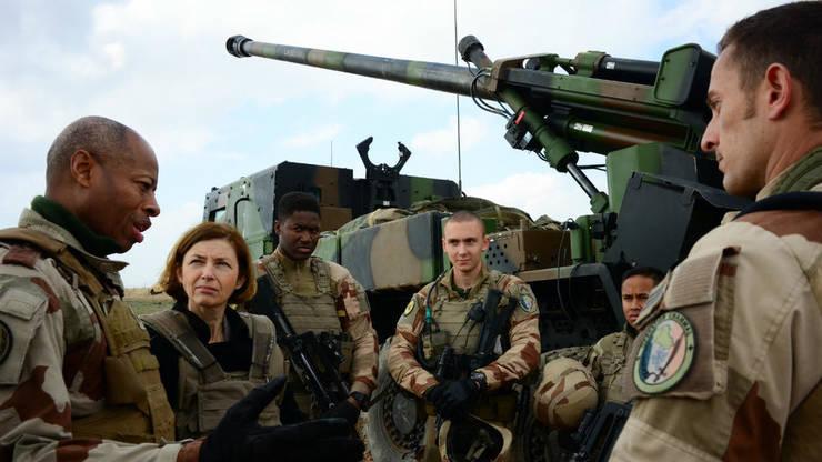Responsabili francezi în rândul militarilor din Hexagon, februarie 2019, Al-Qaim, Irak.