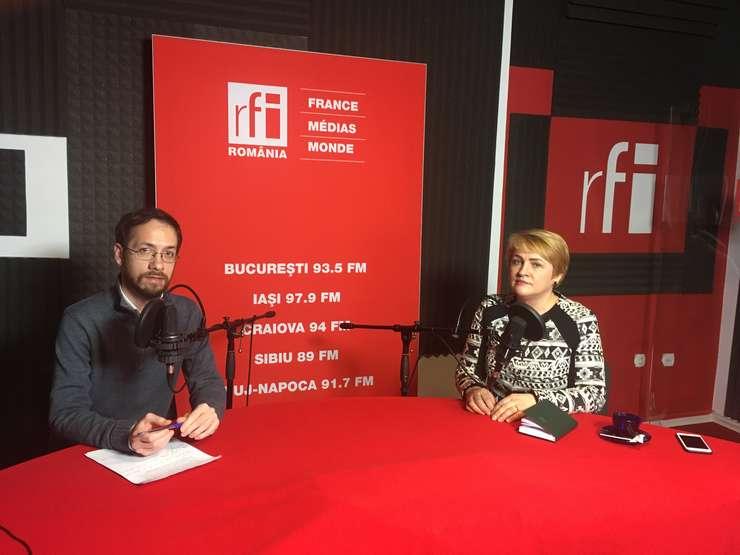Lucia Varga, în studioul RFI