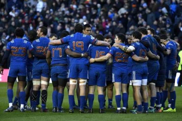Nationala francezà de rugby pe stadionul Murrayfield din Edimbourg, 11 februarie 2018