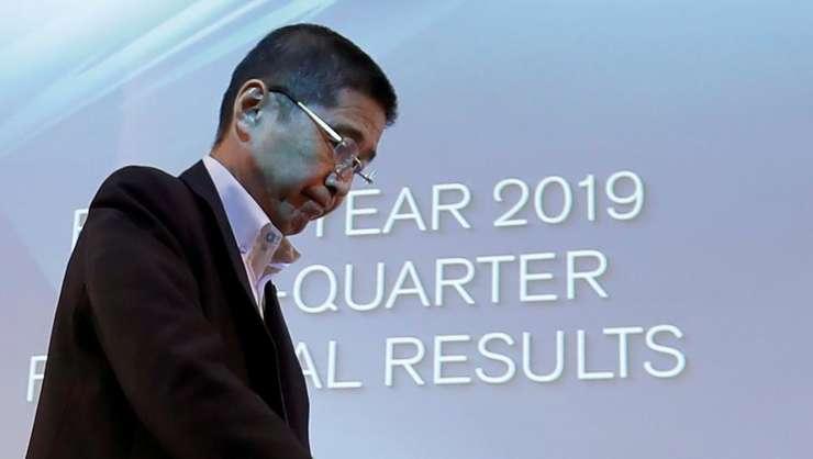 Hiroto Saikawa, directorul general de la Nissan, în cursul unei conferinte de presà pe 25 iulie 2019