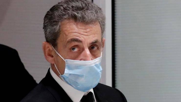 Fostul presedinte francez, conservatorul Nicolas Sarkozy, la tribunalul din Paris, 7 decembrie 2020.