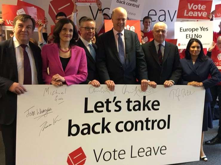 De la stânga la dreapta: John Whittingdale, Theresa Villiers, Michael Gove, Chris Grayling, Iain Duncan Smith și Priti Patel
