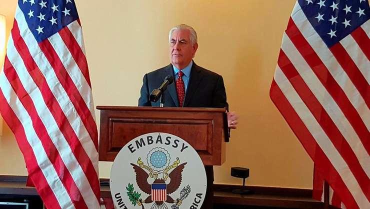 Secretarul american de Stat Rex Tillerson a sustinut o conferinta de presa la summitul ASEAN de la Manila, 7 august 2017