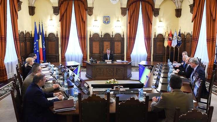Şedinţă CSAT, la Palatul Cotroceni (Sursa foto: www.presidency.ro/arhivă)
