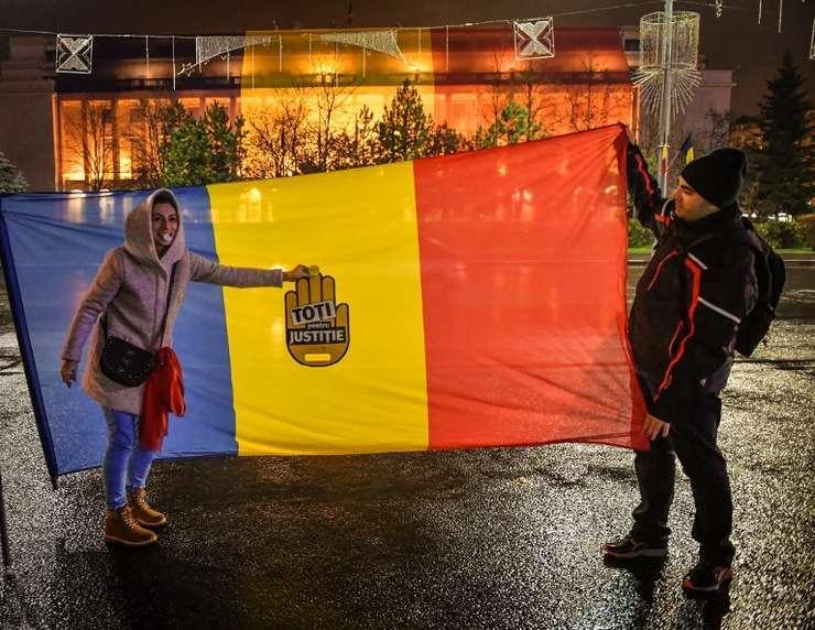 Proteste în Piaţa Victoriei, arhivă (Foto: AFP/Daniel Mihăilescu)