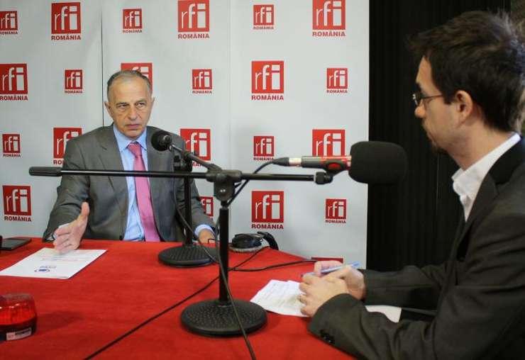 Mircea Geoană, în studioul RFI