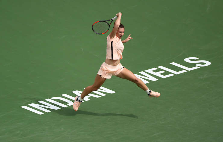 Simona Halep, triumfătoare în turul secund la Indian Wells (Sursa foto: site oficial Indian Wells/Michael Cummo/BNP Paribas Open)