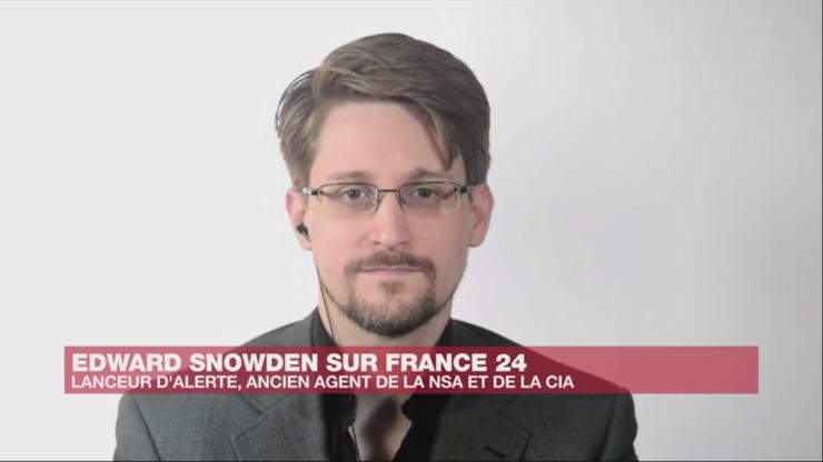 Edward Snowden în cursul interviului acordat canalului France 24 în 9 septembrie 2019