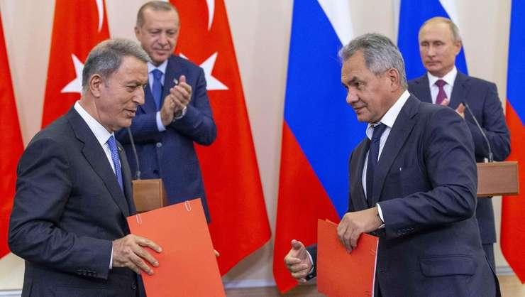 Soci (Rusia) 17 septembrie - dupa o întâlnire de 4 ore, presedintele rus si cel turc si ministrii lor de Aparare anunta un acord pentru crearea unei zone demilitarizate la Idlib