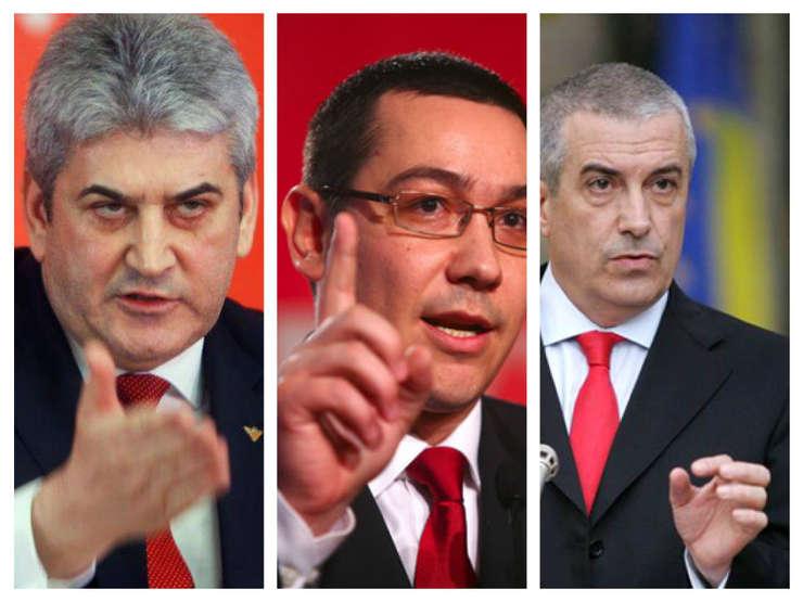 Gabriel Oprea, Victor Ponta şi Călin Popescu Tăriceanu